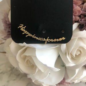 Letter Earring, Ear Cuff, Gold